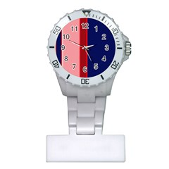 Pink and blue lines Plastic Nurses Watch