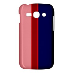 Pink and blue lines Samsung Galaxy Ace 3 S7272 Hardshell Case