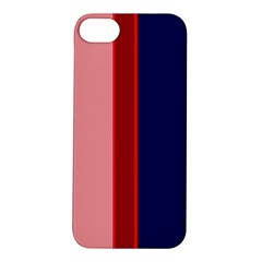 Pink and blue lines Apple iPhone 5S/ SE Hardshell Case