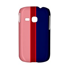 Pink and blue lines Samsung Galaxy S6310 Hardshell Case