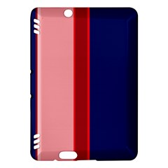Pink and blue lines Kindle Fire HDX Hardshell Case