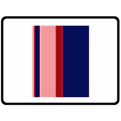 Pink and blue lines Double Sided Fleece Blanket (Large)