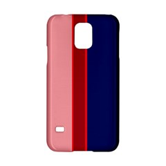 Pink and blue lines Samsung Galaxy S5 Hardshell Case