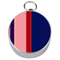 Pink and blue lines Silver Compasses