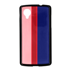 Pink and blue lines Nexus 5 Case (Black)