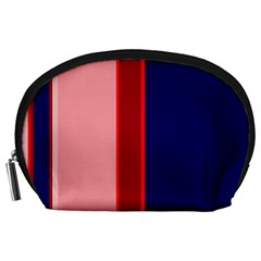 Pink and blue lines Accessory Pouches (Large)