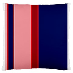 Pink and blue lines Standard Flano Cushion Case (Two Sides)