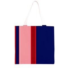 Pink and blue lines Grocery Light Tote Bag