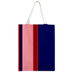 Pink and blue lines Classic Light Tote Bag