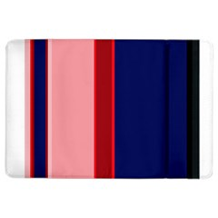 Pink and blue lines iPad Air 2 Flip