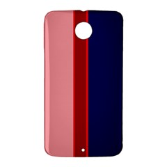 Pink and blue lines Nexus 6 Case (White)