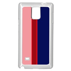 Pink and blue lines Samsung Galaxy Note 4 Case (White)