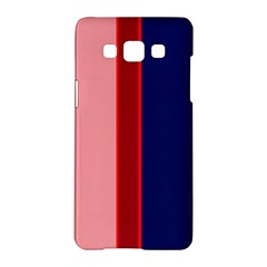 Pink and blue lines Samsung Galaxy A5 Hardshell Case
