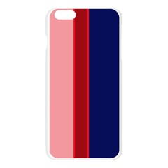 Pink and blue lines Apple Seamless iPhone 6 Plus/6S Plus Case (Transparent)