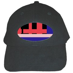 Red abstraction Black Cap