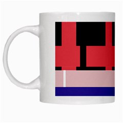 Red abstraction White Mugs