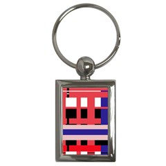 Red abstraction Key Chains (Rectangle)