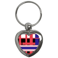 Red abstraction Key Chains (Heart)