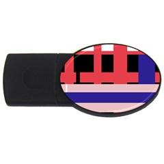 Red abstraction USB Flash Drive Oval (1 GB)