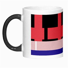 Red abstraction Morph Mugs
