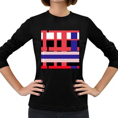 Red abstraction Women s Long Sleeve Dark T-Shirts