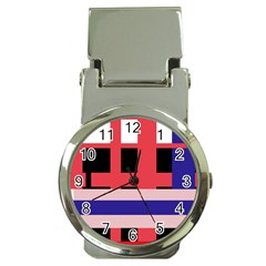 Red abstraction Money Clip Watches