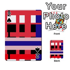 Red abstraction Playing Cards 54 Designs