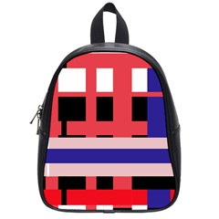 Red abstraction School Bags (Small)