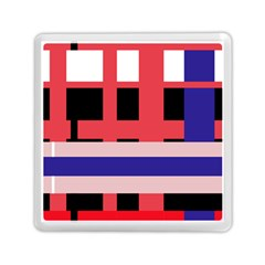 Red abstraction Memory Card Reader (Square)