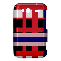 Red abstraction HTC Wildfire S A510e Hardshell Case