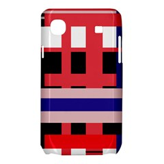 Red abstraction Samsung Galaxy SL i9003 Hardshell Case