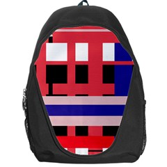 Red abstraction Backpack Bag