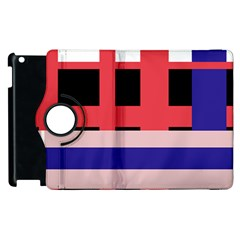 Red abstraction Apple iPad 2 Flip 360 Case