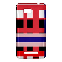 Red abstraction HTC One SU T528W Hardshell Case