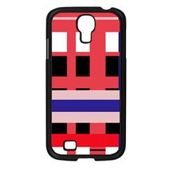 Red abstraction Samsung Galaxy S4 I9500/ I9505 Case (Black)