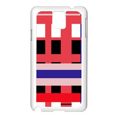 Red abstraction Samsung Galaxy Note 3 N9005 Case (White)