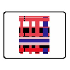 Red abstraction Double Sided Fleece Blanket (Small)