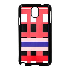 Red abstraction Samsung Galaxy Note 3 Neo Hardshell Case (Black)