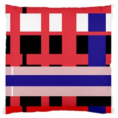 Red abstraction Large Flano Cushion Case (Two Sides)