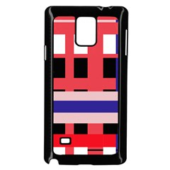 Red Abstraction Samsung Galaxy Note 4 Case (black)