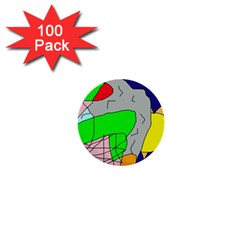 Crazy abstraction 1  Mini Buttons (100 pack)