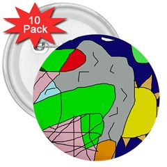 Crazy abstraction 3  Buttons (10 pack)