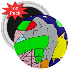 Crazy abstraction 3  Magnets (100 pack)