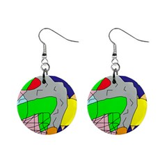 Crazy abstraction Mini Button Earrings