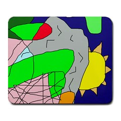Crazy Abstraction Large Mousepads