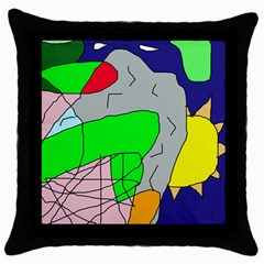 Crazy abstraction Throw Pillow Case (Black)