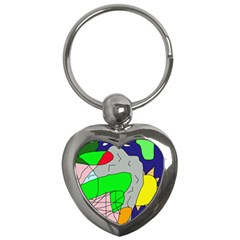 Crazy abstraction Key Chains (Heart)