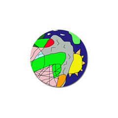 Crazy abstraction Golf Ball Marker