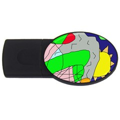Crazy abstraction USB Flash Drive Oval (2 GB)