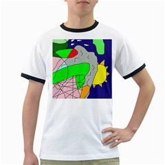 Crazy abstraction Ringer T-Shirts